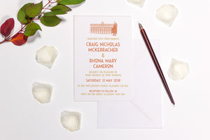West on the Green Wedding Invitation, HD Digital Print