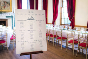 Western House Hotel, Wedding Table Plan