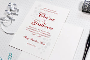Winter Wedding Invitation, Snowflakes (HD Digital Print) Sample