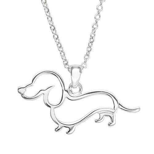 Dachshund Silver Plated Necklace
