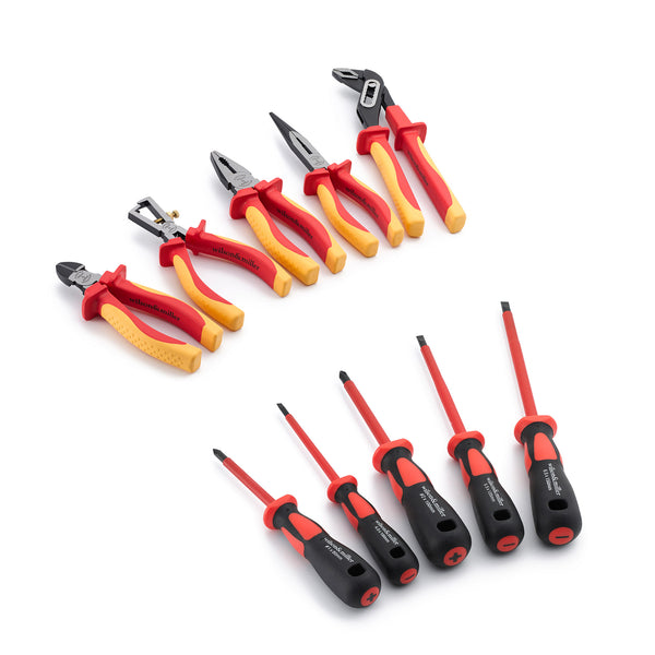 Patriot's 10pc Top-Grade Chrome Vanadium and Chrome Moly Electrician Tool Set