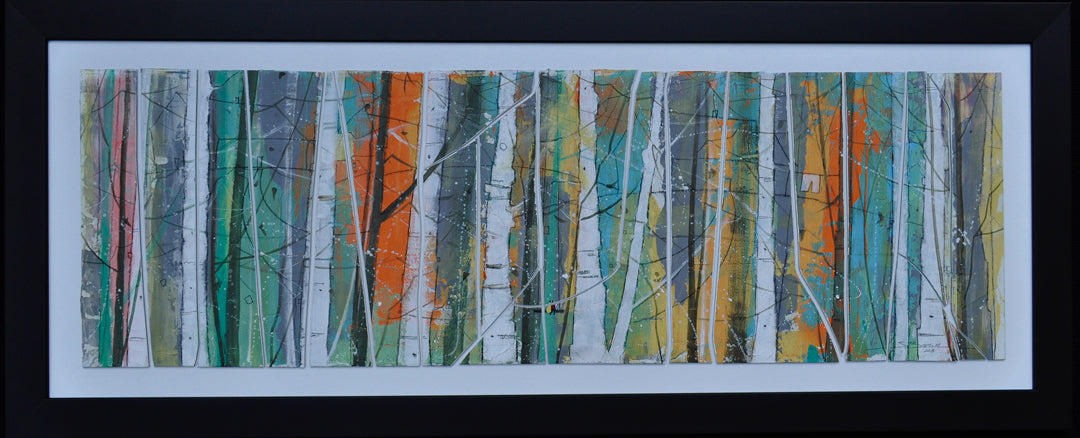 Coastal Trees Abstract Glass Art