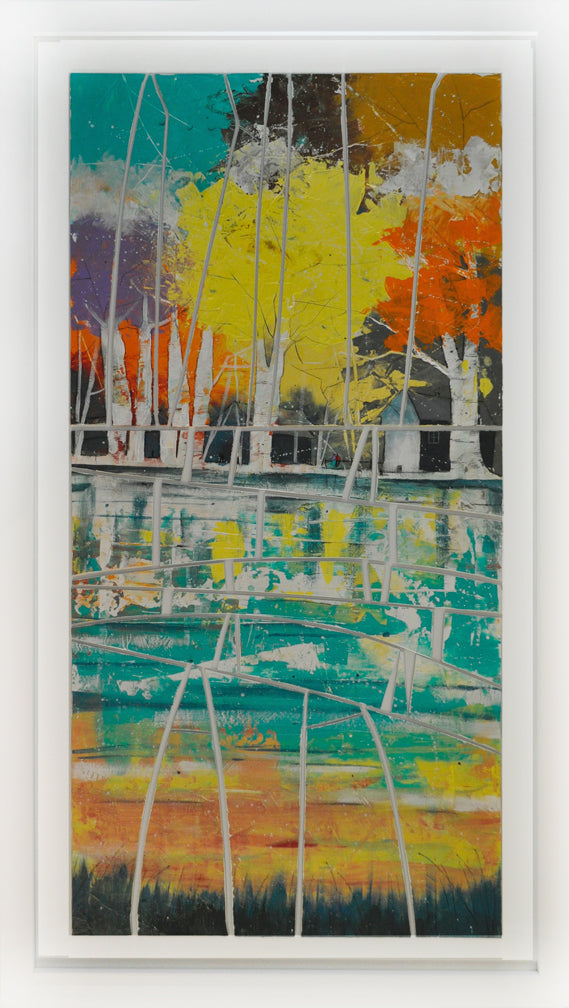 Colorful Lake Glass Art