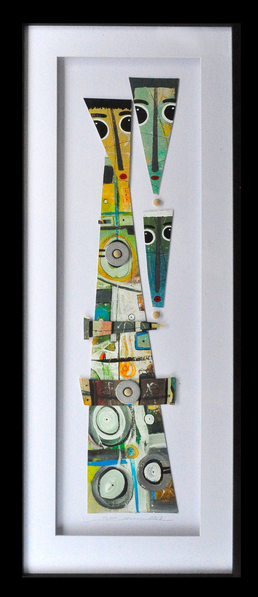 Family Abstract Glass Art