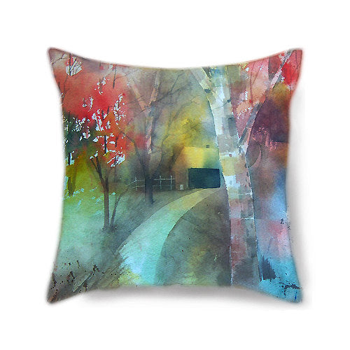 Lane to Peace Decorative Pillow Cover