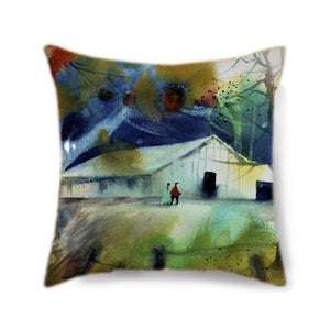 Barn Outing Custom Pillow Cover