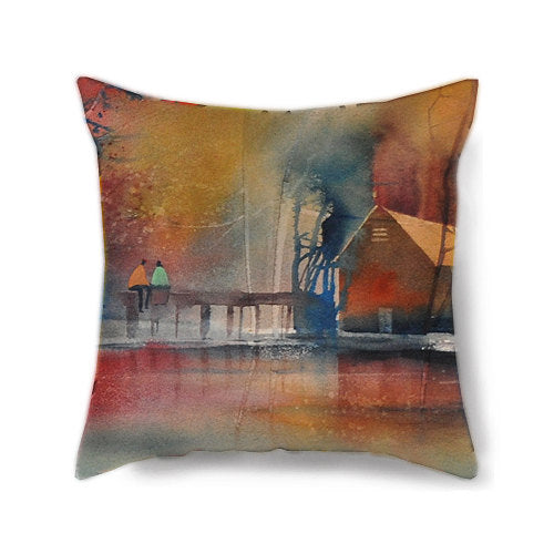 Lake Love Decorative Pillow Cover
