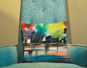 Colorful Lake Decorative Pillow Cover