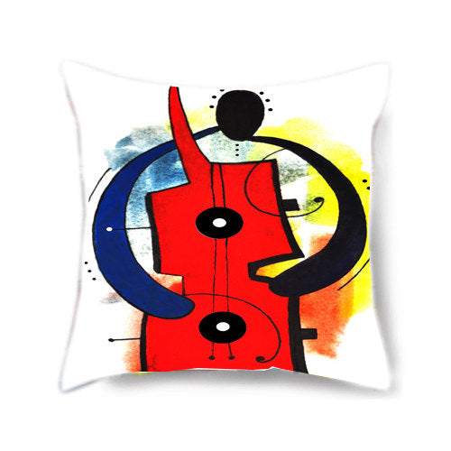 The Guitar Man Decorative Pillow Cover
