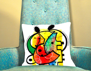 Two Musicians Decorative Pillow Cover