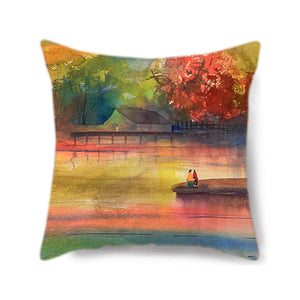 Lake Romance Decorative Pillow Cover