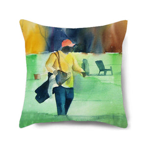 On the Green Decorative Pillow Cover