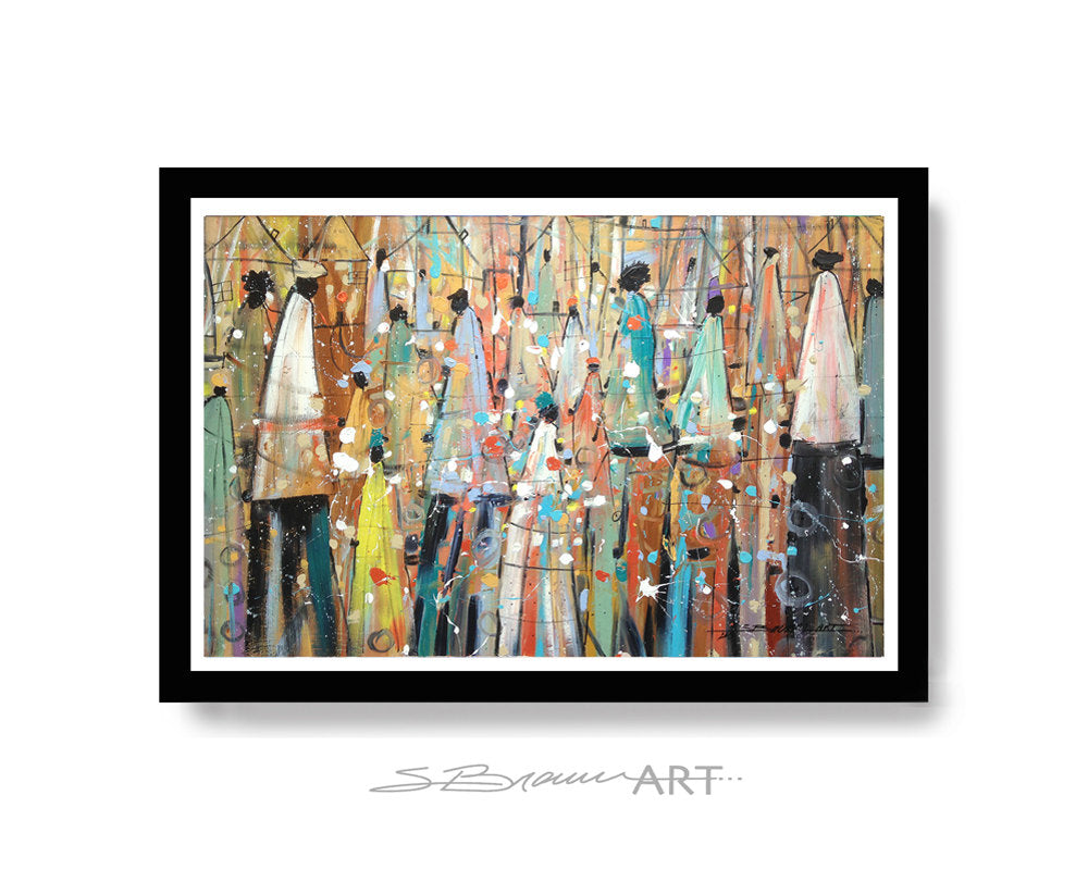 Our Colorful People Print