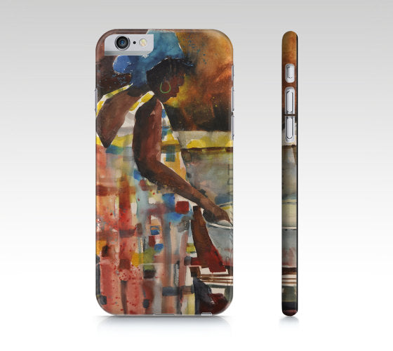 Phone case, iPhone cases, iPhone 5 case, iPad mini cover, iPhone 6 case, painted iPhone, iPhone cover, African American art, iPhone skin