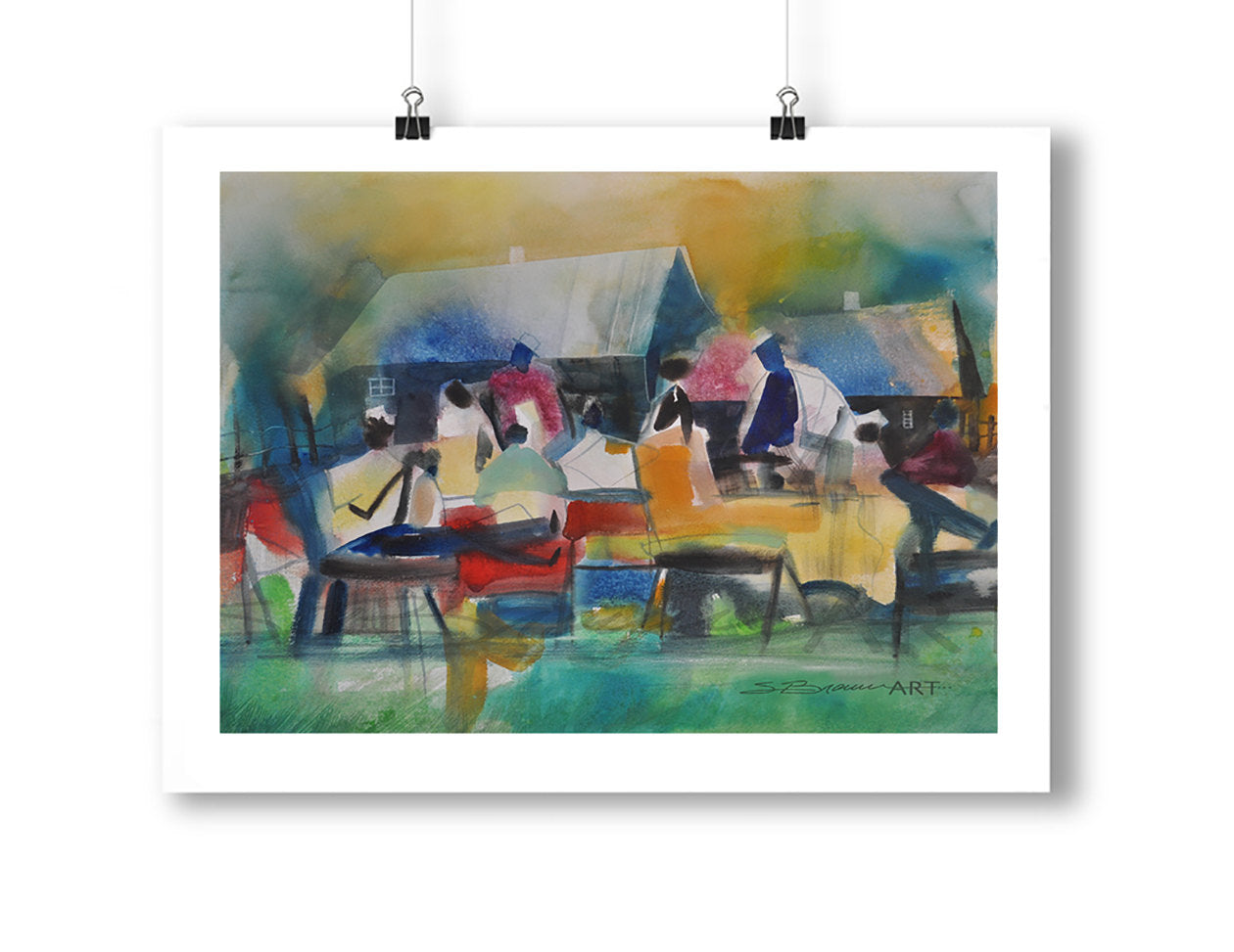 The Reunion Watercolor Print