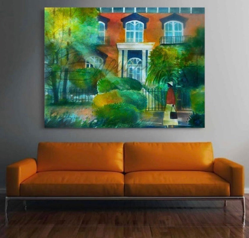 Savannah Stroll Canvas Print