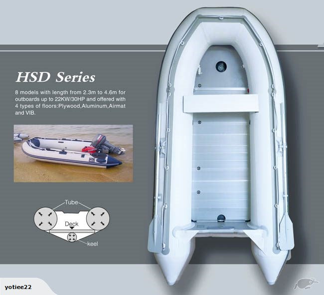 Inflatable Boat HSD 2.3 ,2.7, 2.9,3.2,3.6,4.2