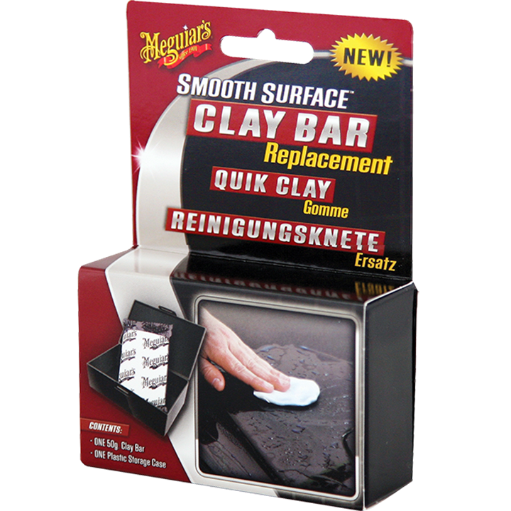 MEGUIARS G1001EU REPLACEMENT CLAY BAR W/CASE 1 x 50g BAR