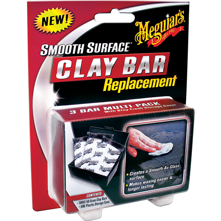MEGUIARS G1001 SMOOTH SURFACE CLAY BAR REPLACEMENT 3 x 50g BARS