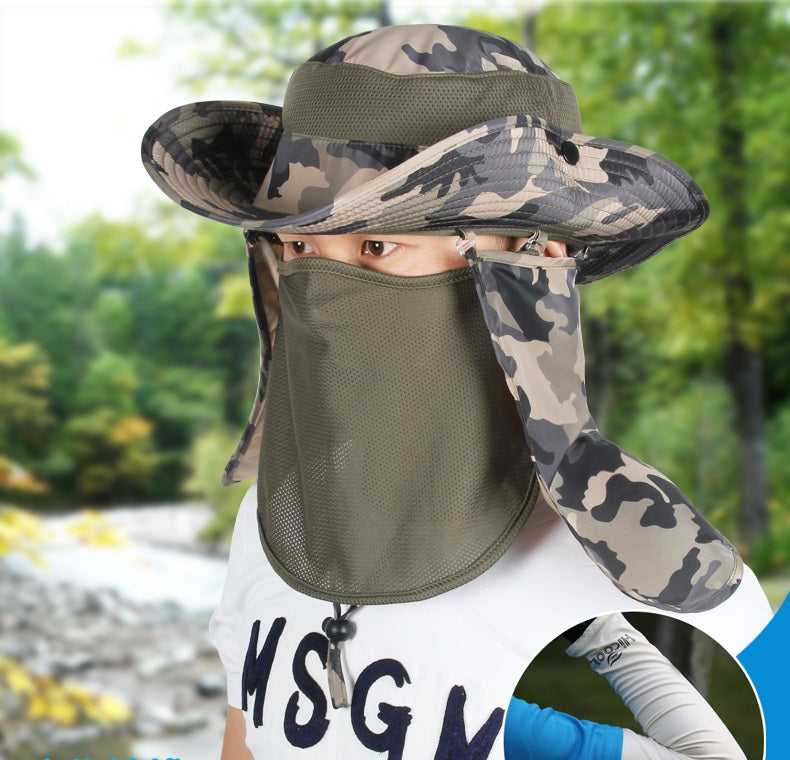 3291f359363 Hiking Fishing Hat Outdoor Sport Sun Protection Neck Face Flap Cap Wide  Brim Hot