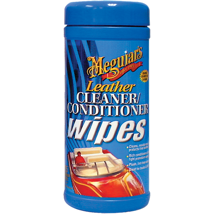 MEGUIARS M11900 MARINE LEATHER CLEANER WIPES