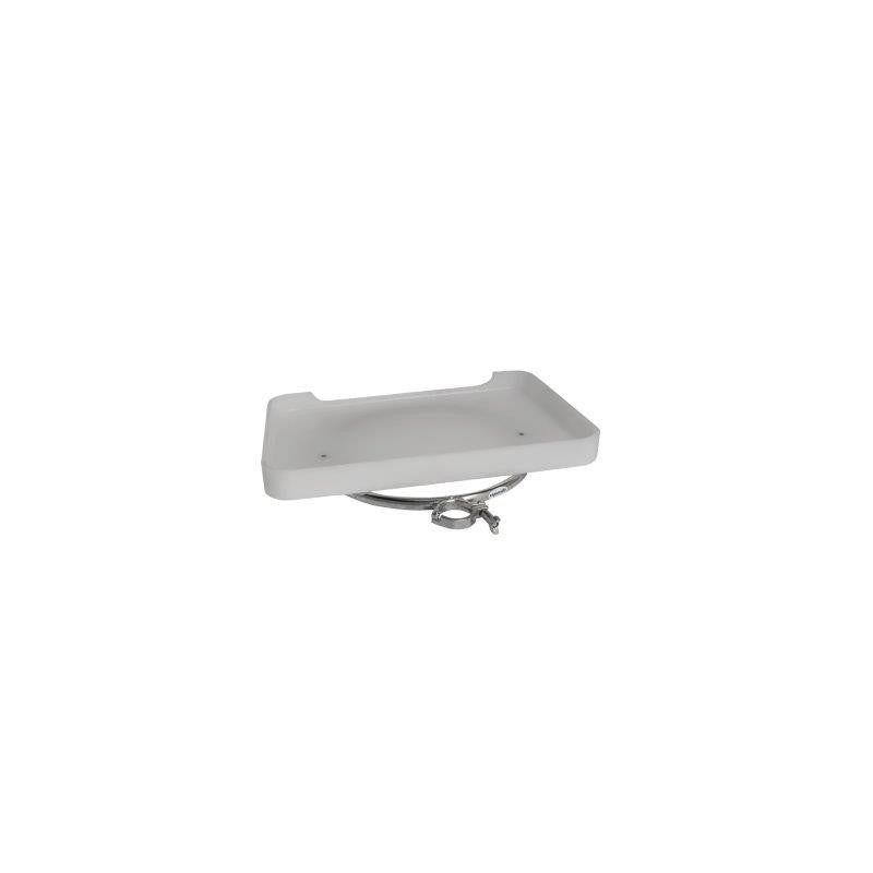 "Stainless Steel Medium bait station with drain board attaches with 2"" 50.8mm ski clamp"