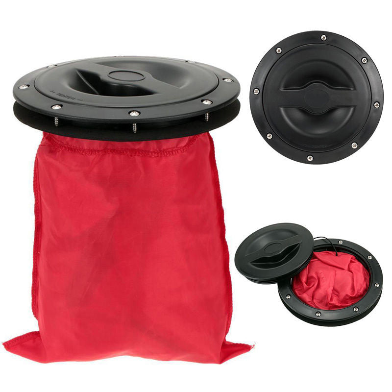 "6"" Inch Hatch Cover Deck Plate Kit with Storage Bag for Marine Boat Kayak Canoe"