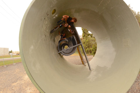 full pipe setup - bmx carve