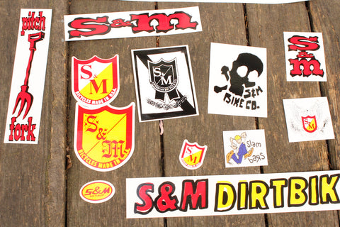 S&M BIKES 30 YEAR STICKER PACK