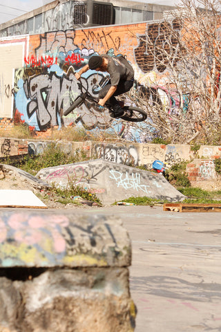 bmx air at ghetto spot in Melbourne