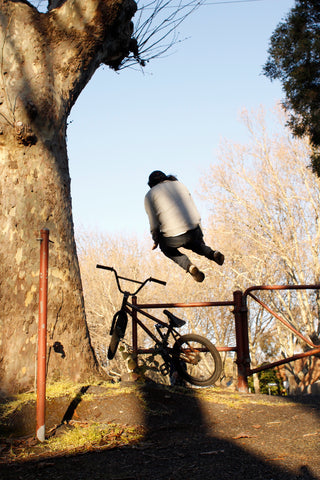 awesome bmx bail out - crash