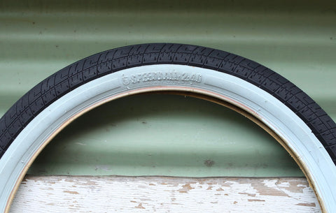 S & M bikes -S&M Speedball Tyre Whitewall -TYRES + TUBES -Anchor BMX