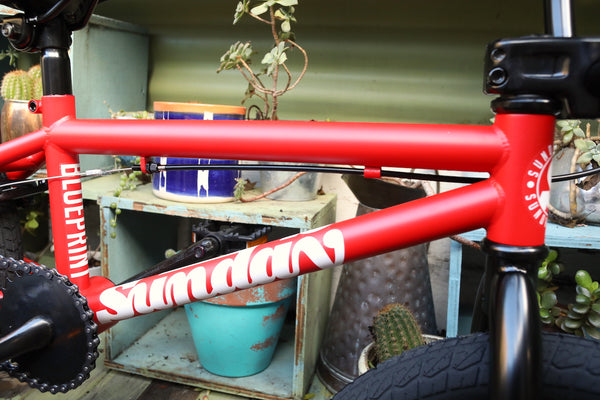 SUNDAY -Sunday Blueprint 16 Inch Matte Red 2021 -Complete Bikes -Anchor BMX