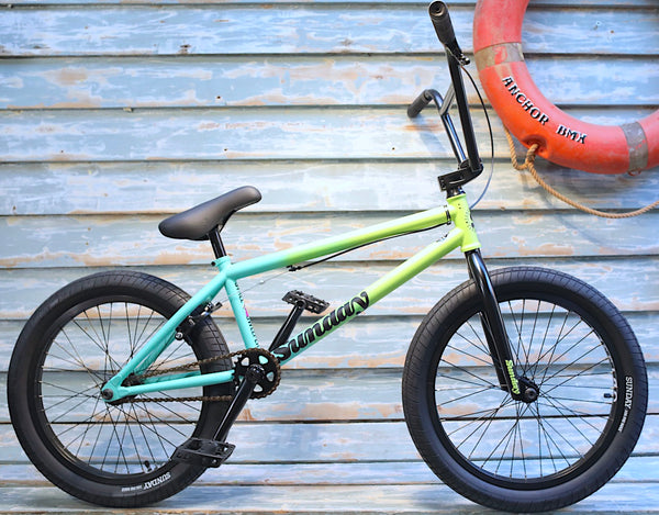 SUNDAY -Sunday Street Sweeper Jake Seeley 2021 Green fade -Complete Bikes -Anchor BMX
