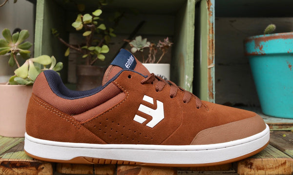 Etnies -Etnies Marana Brown/Navy Chase Hawk -Shoes -Anchor BMX