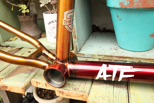 S&M Bikes ATF Frame Red/Gold