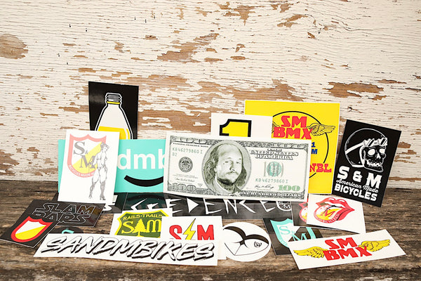 S & M bikes -S&M Random 20pc Sticker Pack -Magazines + stickers+patches -Anchor BMX