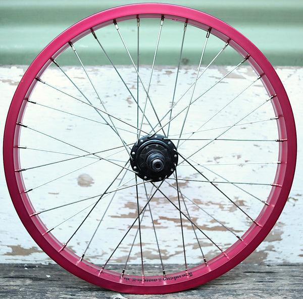 THE SHADOW CONSPIRACY -Trebol + TSC Custom Rear Wheel -WHEELS + SPOKES + BUILDS -Anchor BMX