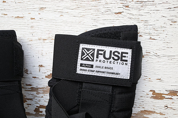 FUSE PROTECTION -Fuse Alpha Ankle Brace -HELMETS + PADS + GLOVES -Anchor BMX