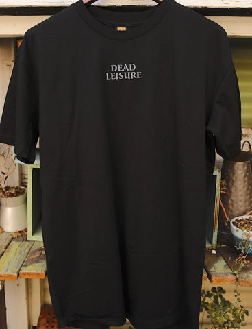 DEAD LEISURE -Dead Leisure Embroidered Logo Tee Black -CLOTHING -Anchor BMX
