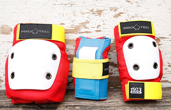 Protec Street Gear Jr Youth Pad Set Retro