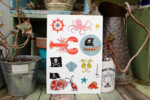 Anchor BMX -The Anchor Nautical Fun Sticker Sheet -Magazines + stickers+patches -Anchor BMX