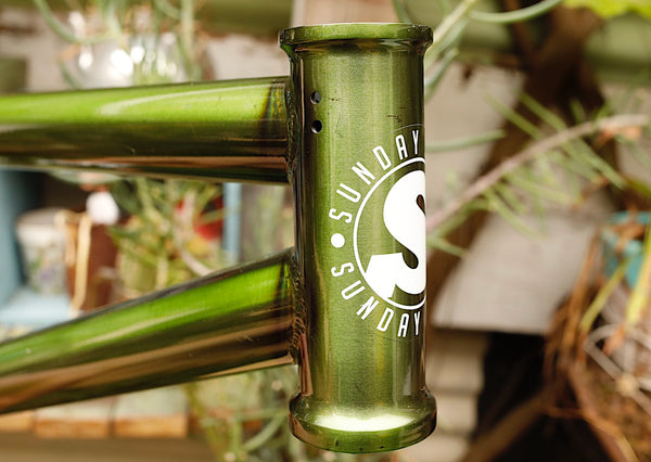 SUNDAY -Sunday Street Sweeper Frame Slimer Green -FRAMES -Anchor BMX