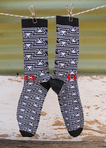 CULT -Cult Pattern Socks Blk/White -Socks -Anchor BMX