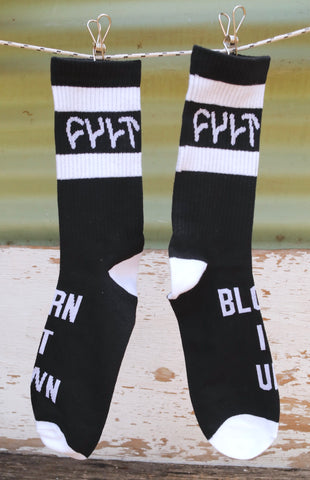 CULT -Cult Burn It Socks Black -Socks -Anchor BMX
