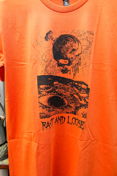 FAST & LOOSE -Fast & Loose Rotten Earth Tee Orange -CLOTHING -Anchor BMX