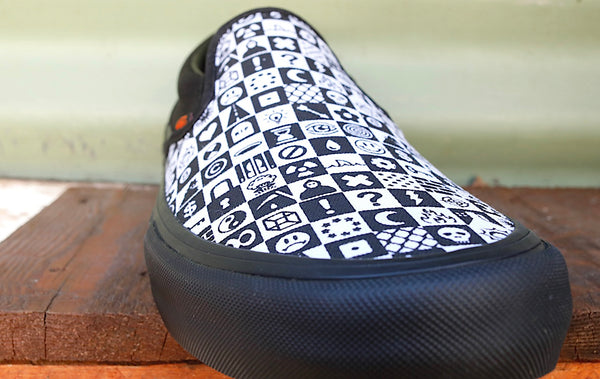 Vans -Vans x Cult Slip-On Pro Black Checker -Shoes -Anchor BMX