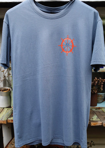 Anchor BMX -The Anchor Boat Bike Tee Faded Blue -CLOTHING -Anchor BMX