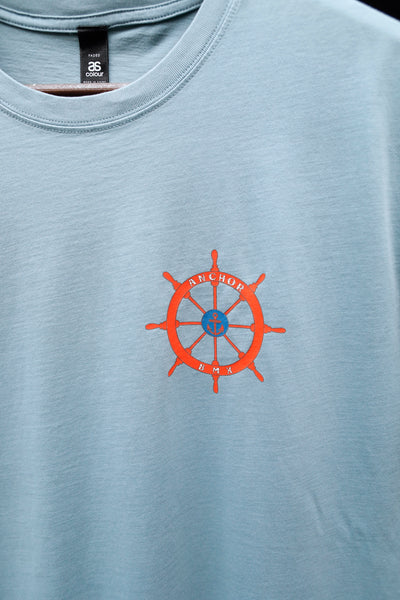 Anchor BMX -The Anchor Boat Bike Tee Faded Slate -CLOTHING -Anchor BMX