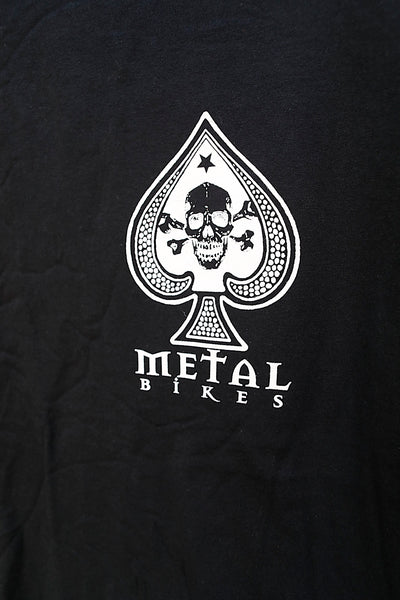METAL BIKES -Metal Spade Tee Black With White Print -CLOTHING -Anchor BMX